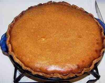 Pumpkin pie, made from a fresh pumpkin